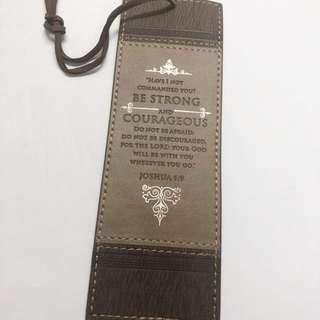 Christian LuxLeather bookmark
