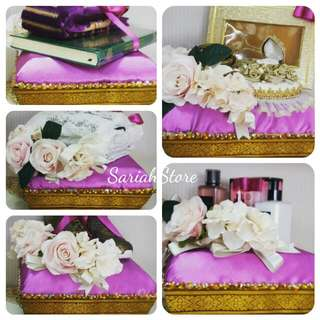 Wedding Trays Deco, Flower and Gifts Arrangement