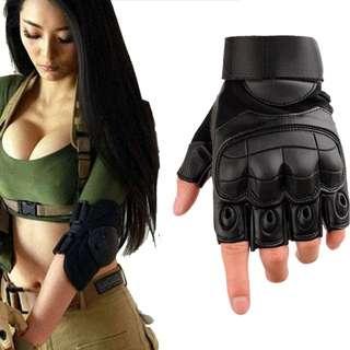 🆕! Tactical Fingerless Gloves Military Army Half Finger Black Protective Gloves  #OK