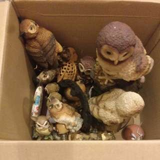 Box of owls( most are imported)