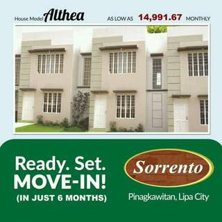 ALTHEA TOWNHOUSE READY TO MOVE IN PROMO