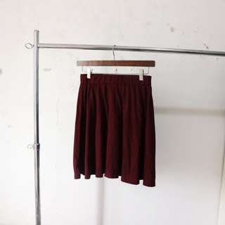 flare skirt maroon