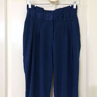 Dark Blue High Waist Pants
