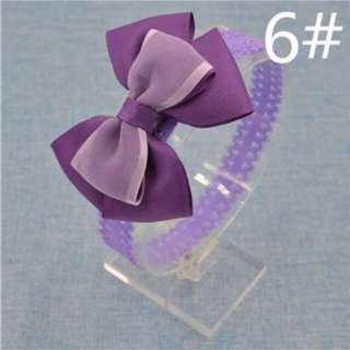 Baby Girl Bow Lace Headband (Purple)