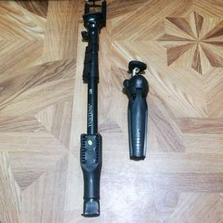 SET MONOPOD AND TRIPOD