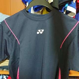 Yonex Badminton Shirt Blue/ Pink Stripes