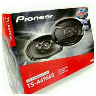 """[Brand New]Pioneer 6"""" x 9"""" 420 Watts 3 Way Oval Shape Speaker Model: TS-A6966S  (Brand new in box & sealed) . Usual Price:$ 129.90  Special Price:$ 79.90  lWhatsapp 85992490 to collect today."""