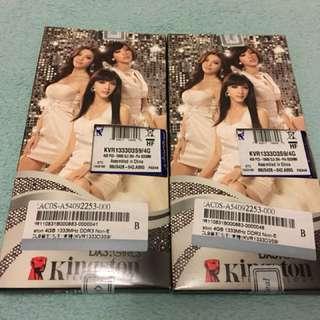 Kingston 4G DDR3 1333 筆電記憶體 終身保固