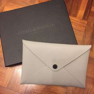 GIEVES & HAWKES Leather Clutch