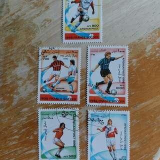 阿富汗郵票1998年法國足球世界盃足球賽已銷郵票