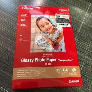 Canon 噴墨照片打印紙100張