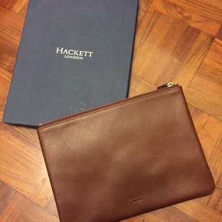 HACKETT LONDON Leather Clutch