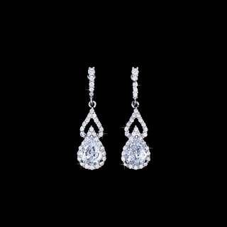 Tear drop shape earrings