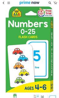Flash cards - Numbers (brand new)