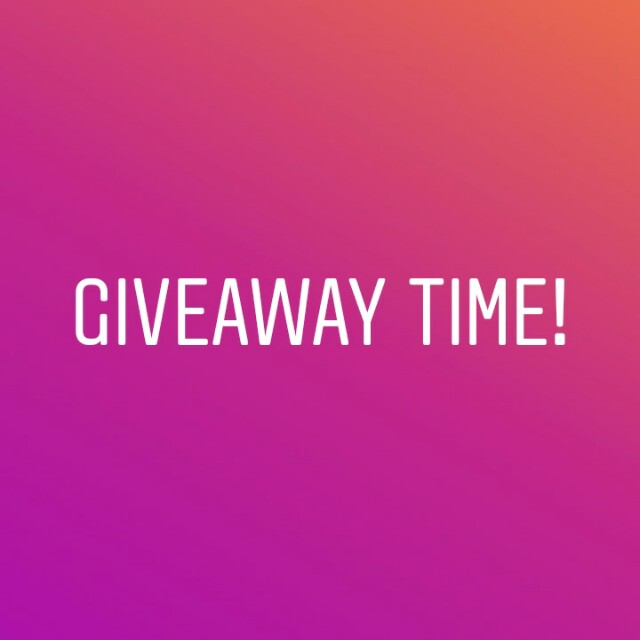 4th giveaway time!