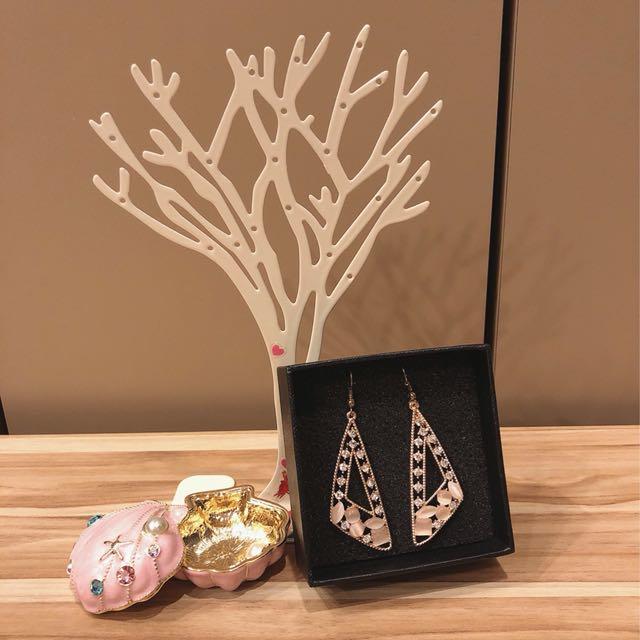 韓國水鑽耳環