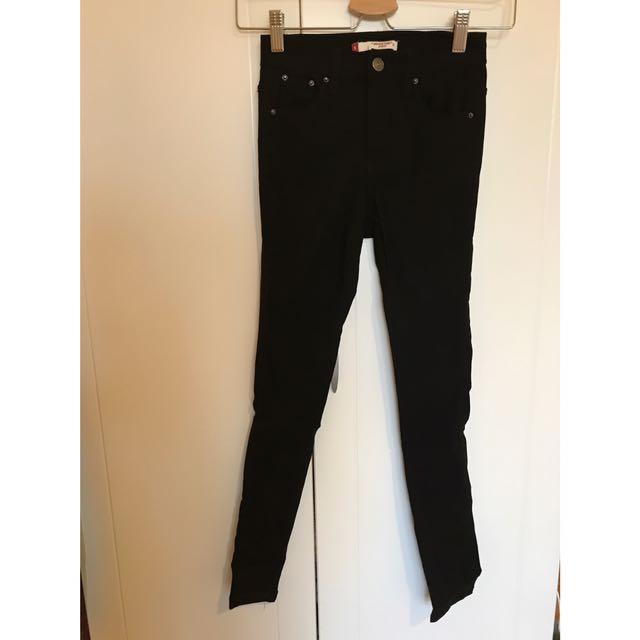 黑色彈力褲