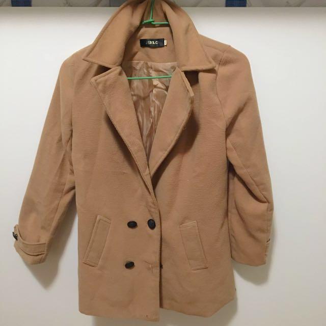 駝色大衣外套#旺旺一路發