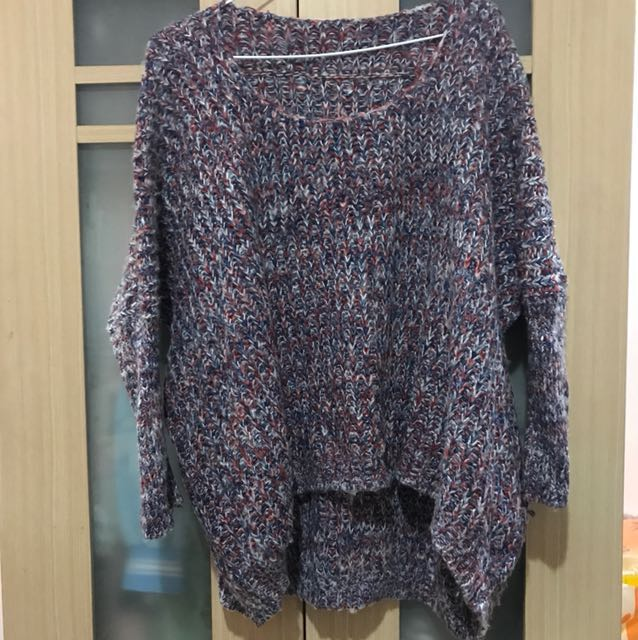 九成新 彩色編織毛衣