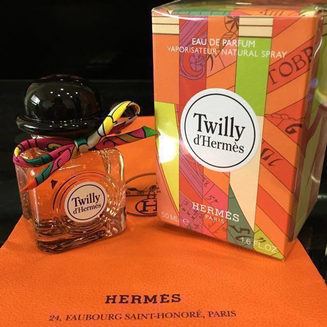 全新 Hermes twilly 淡香精 50ml 全新盒裝有封膜 附:緞帶、紙袋