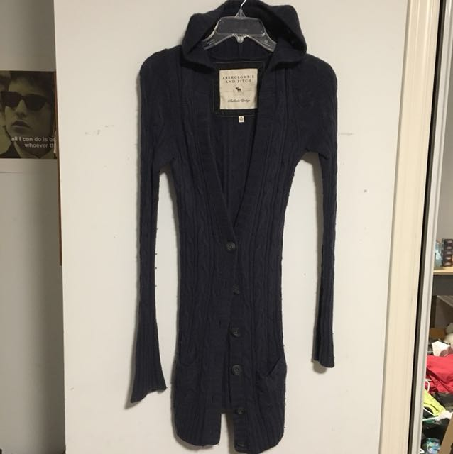 Abercrombie and Fitch sweater cardigan with hood