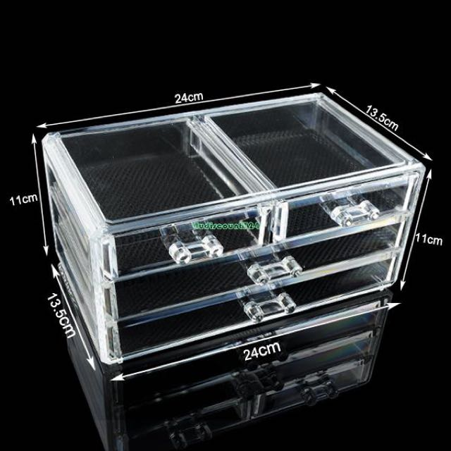 Acrylic Cosmetic Drawer Makeup Organizer
