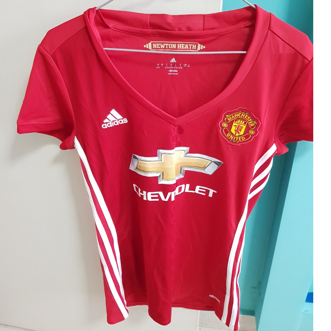 9a535e1143b Adidas Woman's Manchester United Soccer Jersey (Chevrolet), Women's  Fashion, Clothes, Tops on Carousell