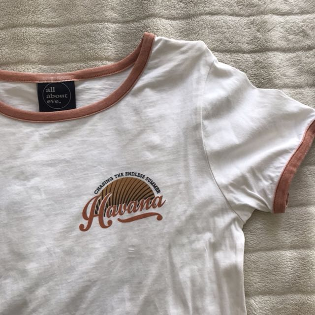 ALL ABOUT EVE white graphic tshirt