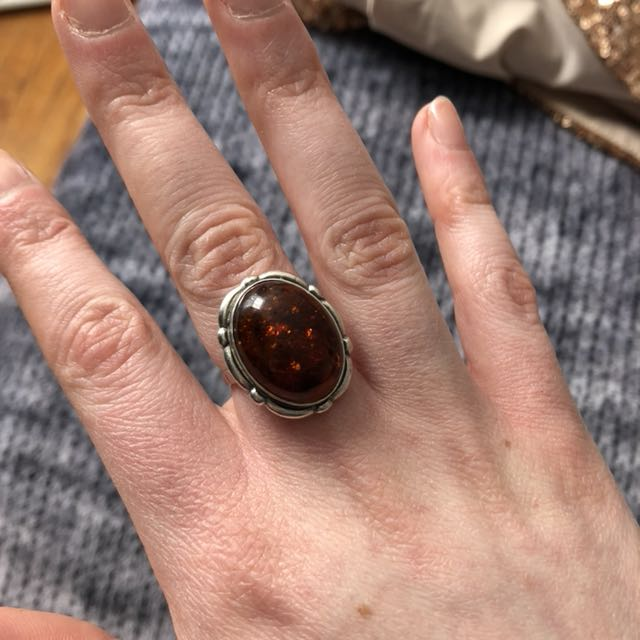 Amber ring size 7