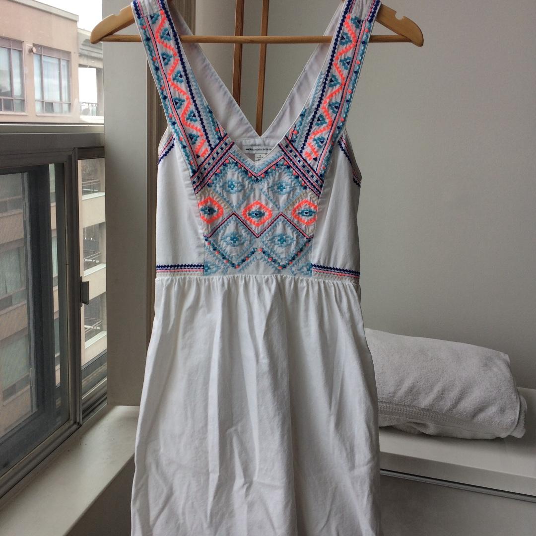American Eagle White Sun Dress