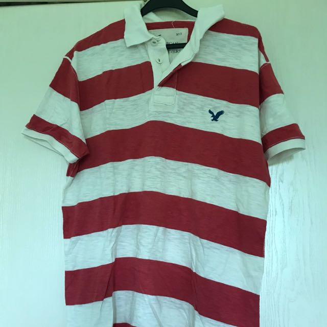 73623c66 AUTHENTIC] American Eagle Outfitters Red White Polo Tee, Men's ...