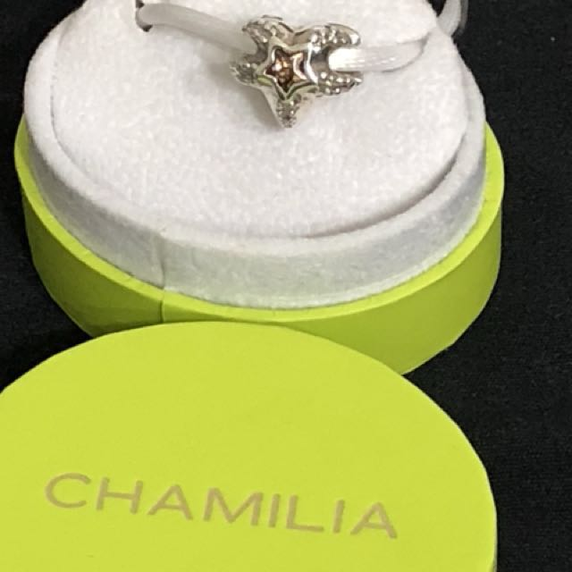 Authentic Chamilia star fish with stone charm