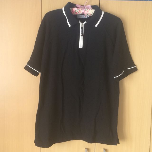 Authentic new Swatch black polo tee shirt