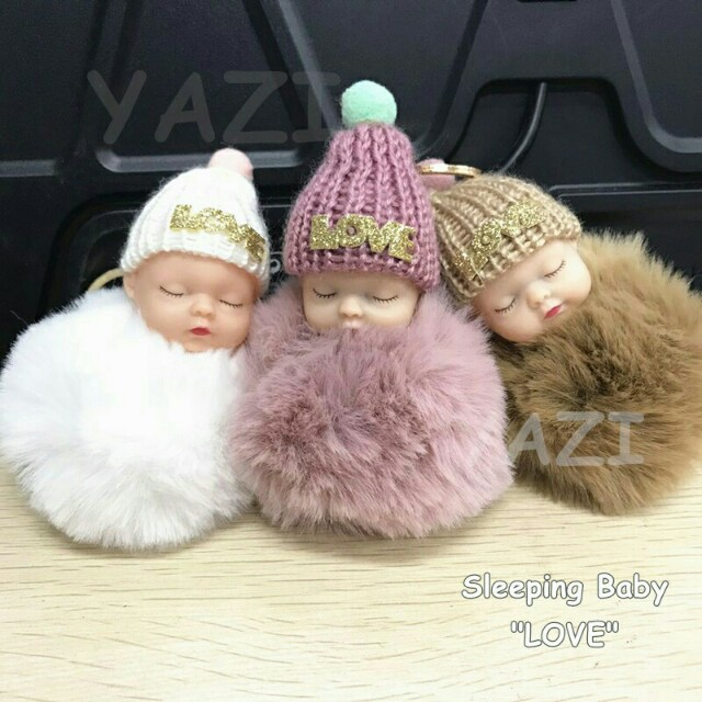 Baby fur for bags accesories
