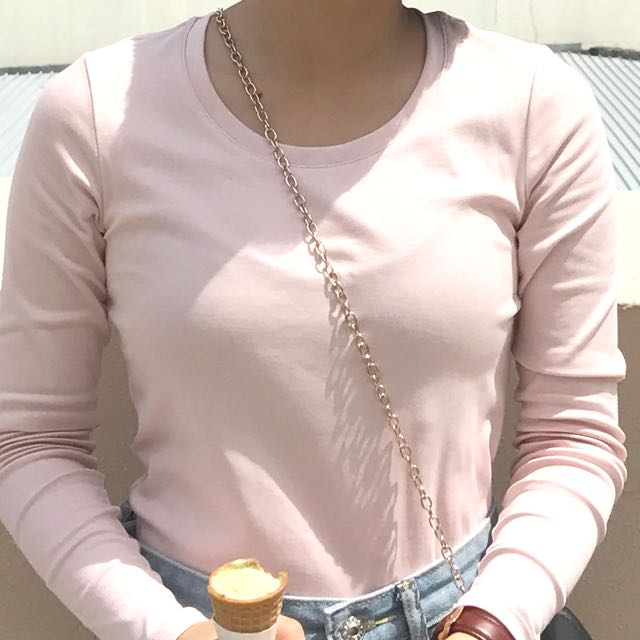 Baby pink long sleeve