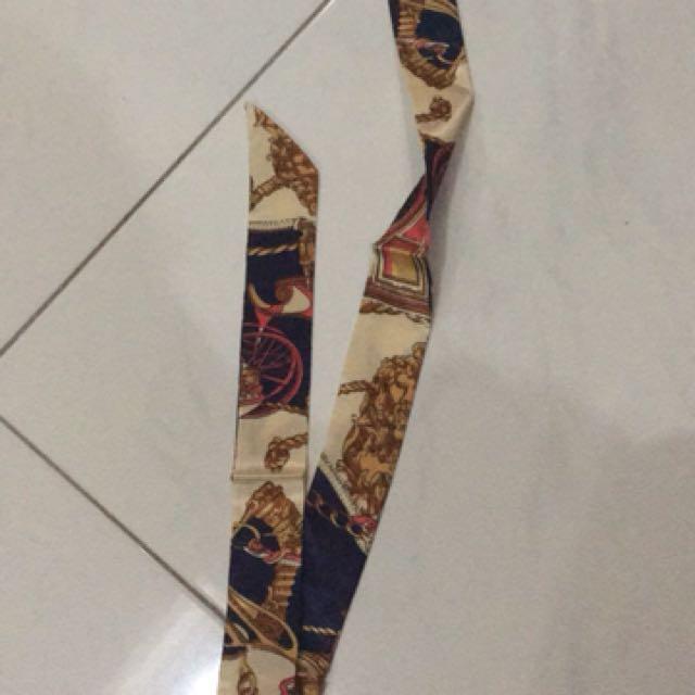 Bag handle ribbon