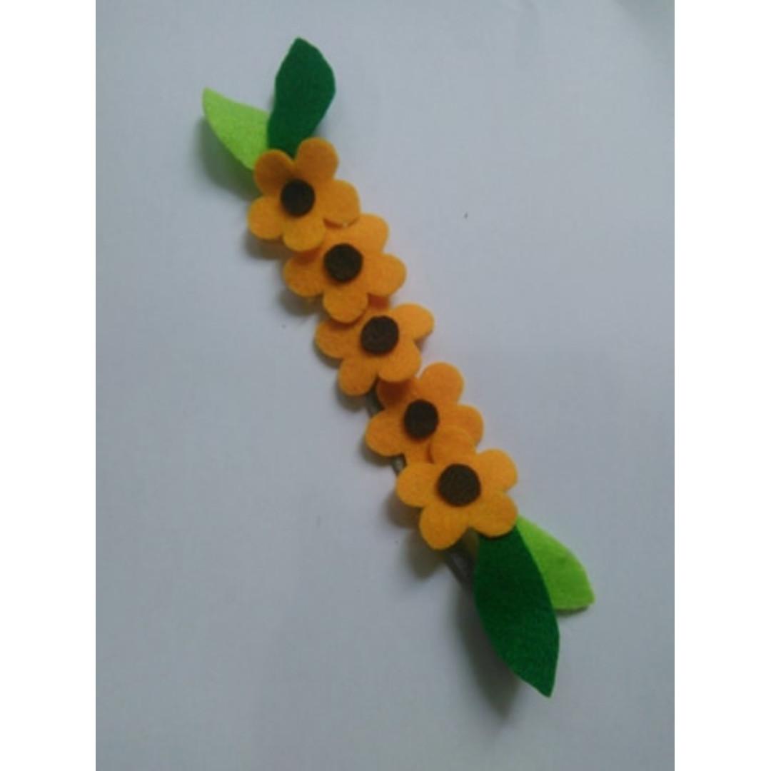 Bandana bayi-baby headband Yolanda kuning