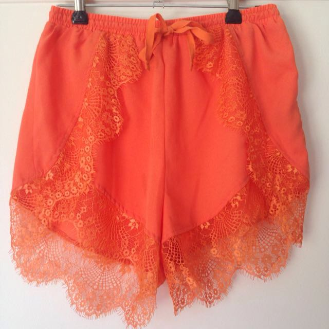 Beginning Boutique lace high waisted shorts