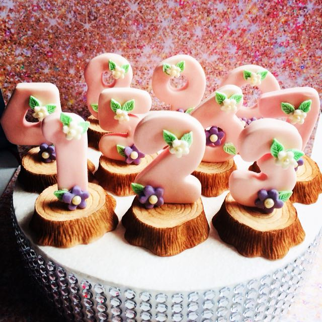 Birthday number fondant Cake Toppers