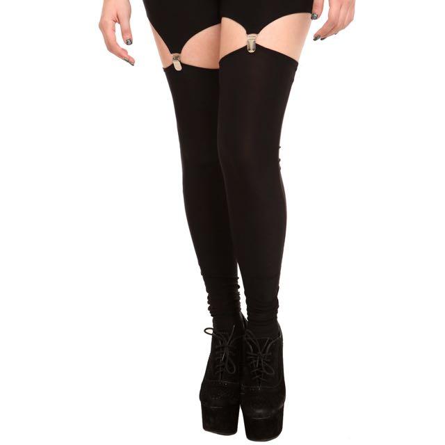 Black Garter Leggings