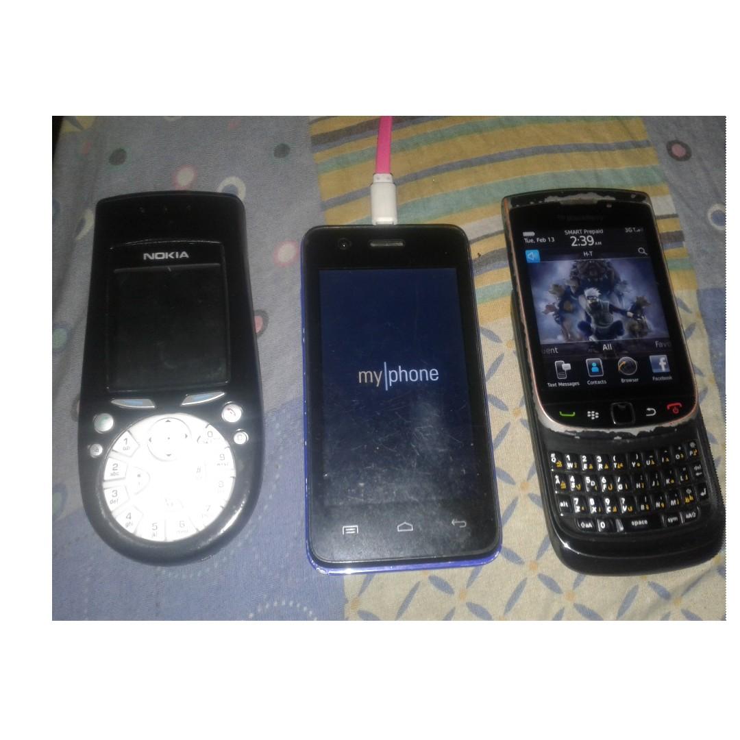 blackberry 9800,nokia 3560,myphone rio craze