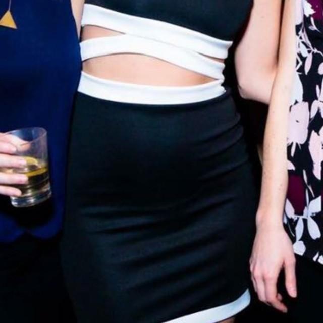 Boohoo Black Dress Size 2