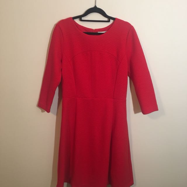 Brand New 3/4 sleeves Boden Dress Red