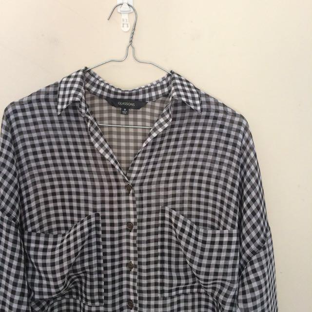 Check mesh shirt