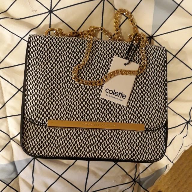 Colette Handbag Black and White *UNTOUCHED*