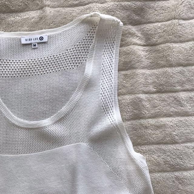 DION LEE X TARGET white mesh tank top