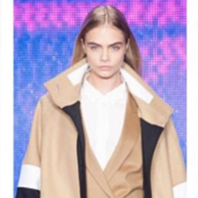 f3641a357212 DKNY colour block coat. size P. Dry Cleaned. Worn by Cara Delevingne ...