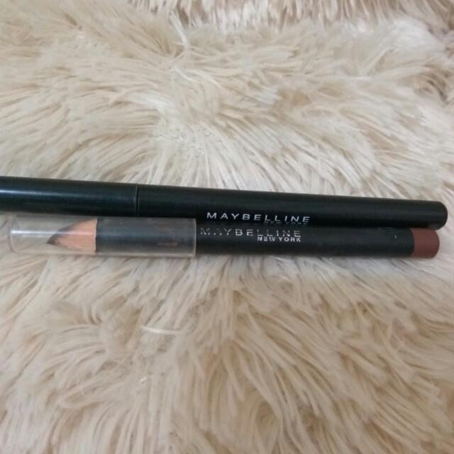 Maybelline eyeliner + eyebrow