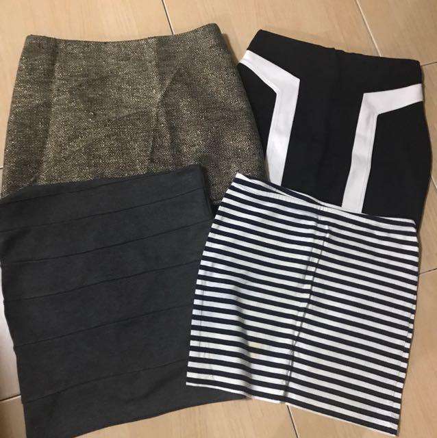 F21/ h&m skirt