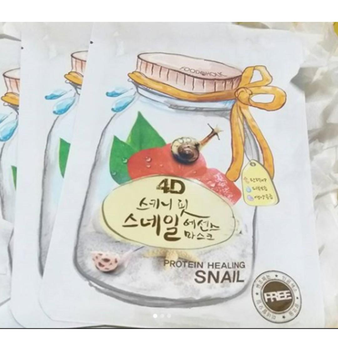 foodaholic 4d sheet mask - snail